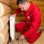 Сантехнические работы: установка радиатора