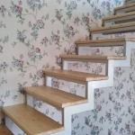 Обивка лестницы