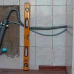 Монтаж ПВХ труб к стиральной машине
