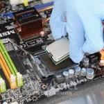 Установка процессора в сокет