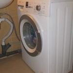 Установка стиральной машины и замена труб раковины