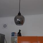 Установка лампы на кухне