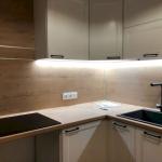 Подсветка LED лентой кухонной зоны