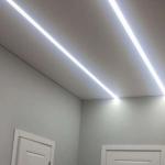 Монтаж освещения на потолок