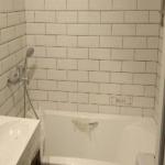 Ванная комната и плитка обработаны составом