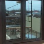 Фасадные комбинированные окна 45x130 см