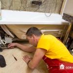 Сантехнические услуги: монтаж ванны